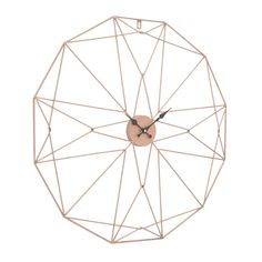 Add a statement to bare walls with this unique Geo copper wall clock! Perfect for a contemporary setting. #homedecor