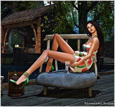Looking butterflies and fireflies: {Shameless} Olala - Summer Dress {Watermelon} + [M...