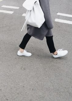 Mansur Gavriel backpack, Iris von Arnim cashmere coat, AYR denim & A.P.C. sneakers. Via Mija  | streetstyle fashion style lifestyle activewear women one piece sneakers style health nutrition training fit active womens inspiration fitness womenswear | Bayse Womens Athleisure Apparel | Activewear, Basics & Essentials