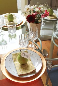 Thanksgiving place setting // Thanksgiving Tablescape