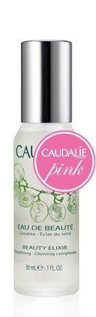 Caudalie Beauty Elixir. Toner and serum in one. Contains a mix of essential oils that will tighten pores and works with acne prone skin.