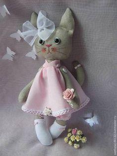 Игрушки животные, ручной работы. Ярмарка Мастеров - ручная работа. Купить Кошка Розочка. Handmade. Бледно-розовый, розовый, киска