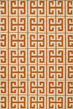 Laguna Orange Geometric Rug