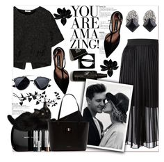 """""""Back to Black"""" by sweta-gupta ❤ liked on Polyvore featuring Tess Giberson, Vilshenko, Marc Jacobs, Steve Madden, Ted Baker, women's clothing, women, female, woman and misses"""