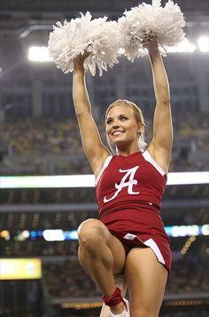 Alabama Crimson Tide Cheerleaders Photo Gallery my future uniform! College Cheerleading, Cheerleading Uniforms, Football Cheerleaders, Cheer Stunts, Crimson Tide Football, Alabama Football, Alabama Crimson Tide, College Football, American Football