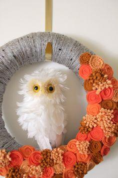 Owl Wreath, Halloween