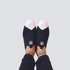 Adidas Supertar Slip on // Ninja Shoes.  #superstarslipon