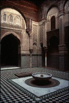 Morocco FezThe Medersa el Attarin (coranic school) 1994