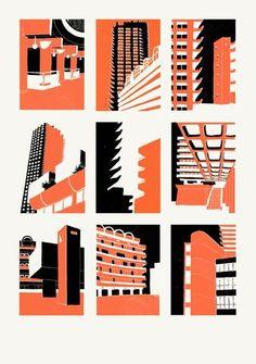 Barbican,Series,Eliza Southwood, Barbican, Hand printed screenprint