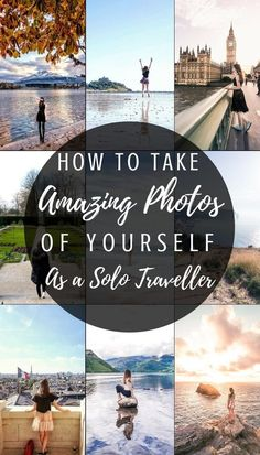 Travel Photography Tips Taking photos of yourself as a solo traveller: How to take beautiful and amazing photos of yourself as a solo traveller! Solo travel tips for getting the best photographs while travelling on your own! Travel Photography Tumblr, Photography Beach, Photography Tips, Photography With Iphone, Landscape Photography, Photography Colleges, Portrait Photography, Gymnastics Photography, Photography Classes