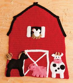 Red Barn Blanket | crochet today