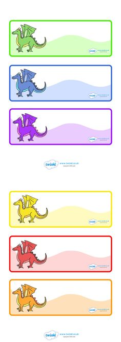 Twinkl Resources >> Editable Dragon Drawer Peg Labels >> Classroom printables for Pre-School, Kindergarten, Elementary School and beyond! Classroom Labels, Classroom Organisation, Preschool Classroom, Classroom Themes, Teaching Activities, Teaching Resources, Primary Teaching, Primary School, Pre School