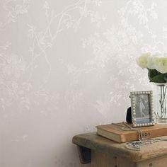 Fresco Wallpaper Spring Blossom Silk Shimmer