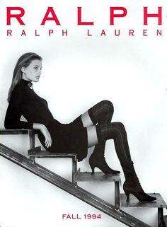 Bridget Hall Fashion Photography, Ralph Lauren Fall 1994
