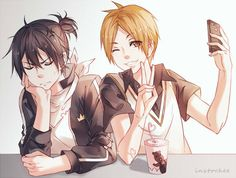 Noragami | Yato and Fujisaki (trash dad)《 reposting for that comment