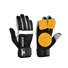 KOSTON longboard sliding gloves with POM puck, professional protective gloves for skateboarding purpose