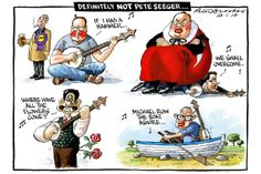 29 January 2014 - Peter Brookes' cartoon references Pete Seeger too, using his most famous song to illustrate the top politicians' struggles.
