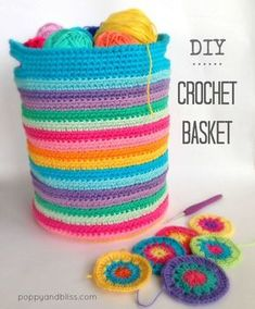 free: crochet basket pattern by poppyandbliss.com