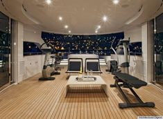 yacht interior photos | ... what a view while working out