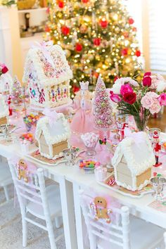 50+ Gingerbread Party Decorations Candy Land Christmas, Christmas Birthday Party, Pink Christmas, Christmas Holidays, Christmas Decorations, Gingerbread Birthday Party, House Party Decorations, Christmas Mantles, Italian Christmas