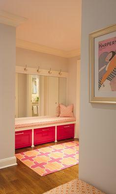 Madeline Weinrib Pink & Orange Westley Cotton Carpet via Julie Nightingale Design