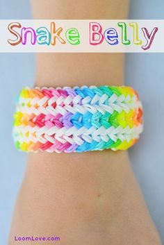 How to make a Snake Belly Bracelet - Rainbow Loom Video Tutorial
