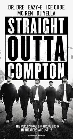 Directed by F. Gary Gray. With O'Shea Jackson Jr., Corey Hawkins, Jason Mitchell, Neil Brown Jr.. The group NWA emerges from the mean streets of Compton in Los Angeles, California, in the mid-1980s and revolutionizes Hip Hop culture with their music and tales about life in the hood.