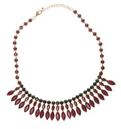 New in the store: Wine and Green Statement Necklace  Shop at www.cornwallst.com