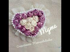 Tocado para el cabello/Corazón de rosas con liston Satinado/Creactivate Manualidades - YouTube