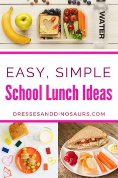 It's almost time for the kids to start school again and that means trying to think of lunch ideas every day. As a busy mom I am always looking for easy simple school lunch ideas. Check out these lunch options that are easy to make ahead! Healthy Toddler Meals, Kids Meals, Healthy Snacks, Healthy Recipes, Toddler Lunches, Lunch Snacks, Lunch Recipes, Dinner Recipes, Lunch Box