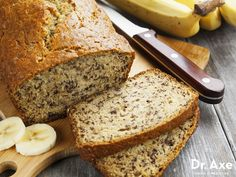 Gluten-Free Banana Bread Recipe http://www.draxe.com #health #holistic #natural