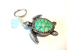 Abalone Shell Sea Turtle Keychain Beach Lover by YoursTrulli