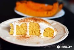 Sütőtökös süti joghurtos tejszínkrémmel Vanilla Cake, Cheesecake, Food And Drink, Dairy, Snacks, Baking, Yogurt, Vanilla Sponge Cake, Tapas Food