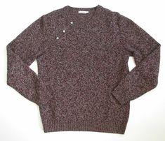 J.Lindeberg Mens Merino Wool Crewneck Sweater