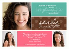Custom Graduation Photo Invitation High School College