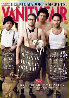 Vanity Fair: Mens Comedy Issue. Jonah Hill, Seth Rogen, Jason Segel and Paul Rudd