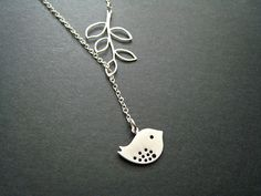 Bird and branch necklace - ohdeercreations