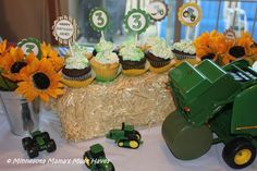 John Deere Tractor Birthday party theme. I was excited to run with the idea and thrilled to team up with Lemonberry Moon party planning services.