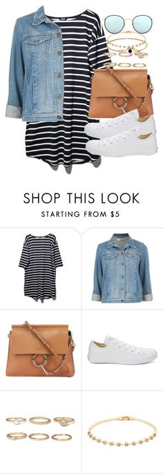 """""""Sin título #3620"""" by hellomissapple ❤ liked on Polyvore featuring BB Dakota, Topshop, Chloé, Converse, Forever 21 and Ray-Ban"""