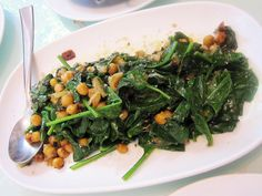 Spiced chickpea and spinach - $15