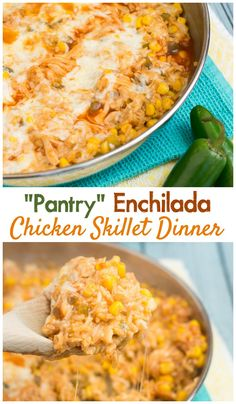 Keep your pantry stocked with all the ingredients you need for this delicious and easy chicken enchilada rice dinner! #sponsored