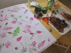 printmaking: leaves
