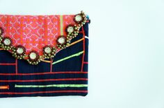 - Hmong Embroidery Nile clutch