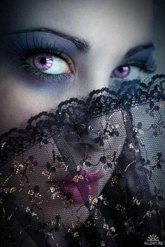 Beautiful violet eyes, brighter than Rena's eyes, this is perfect inspiration for Anne, especially with the lace.