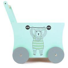 Bloomingville - Вагончик для игрушек «Цирк» на колесиках из адамового дерева – 40 x 45 см - 214857