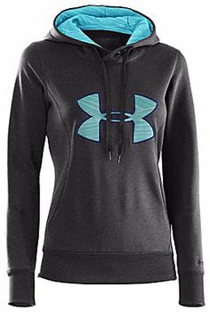 This Carbon Heather Armour® Fleece Storm Big Logo Hoodie by Under Armour® is perfect! Favorite Running Sweatshirt Ever Nike Outfits, Sporty Outfits, Athletic Outfits, Athletic Wear, Fall Outfits, Sporty Clothes, Under Armour Outfits, Nike Under Armour, Under Armour Women