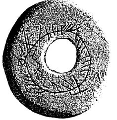 The Buckquoy spindle-whorl, containing a 8th century scholastic ogham inscription written in Old Gaelic.
