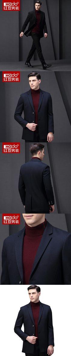 Hodo Men Suits Mens Long Winter Coat  Suit Jacket Men Chaquetas  Blazer Masculino Mens Blazer