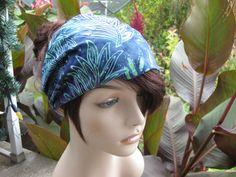 Batik Fabric Headband Gypsy Headwrap Women's Bandana Hair Accessory Gifts for Her Head Band #headband #batik #gypsy #headwrap #bandana #hair #accessories #hairaccessories #blue #wideheadband #giftideas #giftsforher #shopping #holidayshopping #etsy #madeincanada