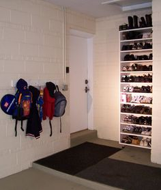 Garage shoe storage garage shoe storage storage and organizations awesome shoe rack and coat rack in the garage and not cluttering up the home garage entrydiy solutioingenieria Images